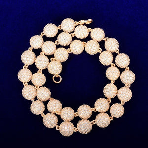Iced Out 10mm Round Bead Necklace