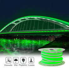 Load image into Gallery viewer, 110V 15x25mm Green LED Neon Rope Light -50ft -