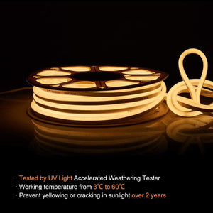 110-120V 3000K Warm White LED Neon Rope Light