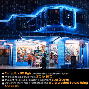 110V-120V 50ft Blue LED Neon Rope Light Shine-Decor