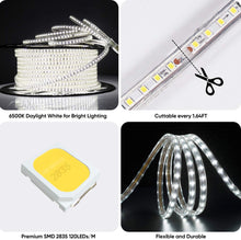 Load image into Gallery viewer, 120V 6500K Cool White Light Strip Shine-Decor