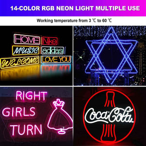 150ft 14 colors RGB LED Neon Rope Light Shine-Decor