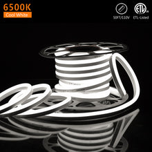 Load image into Gallery viewer, 120V 12.5x23mm LED Neon Rope Light 6500K Cool White -50ft -