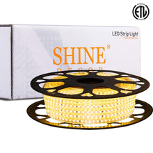 Load image into Gallery viewer, 120V 6x10mm LED Strip Rope Light 3000K Warm White -50ft -