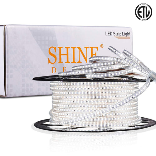 120V 6x10mm LED Strip Rope Light 6500K Cool White -150ft -
