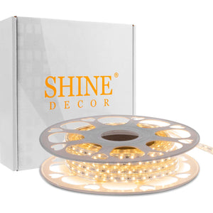 220V-240V 6x10mm 3000K Warm White LED Strip Light -32.8ft -