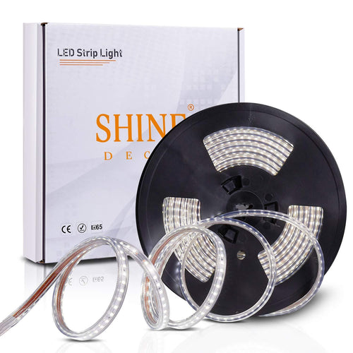 220V-240V 6x10mm 6500K Cool White LED Strip Light -16.4ft -
