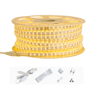 120V 7x15mm Double Row Cold-resistant LED Strip Rope Light -