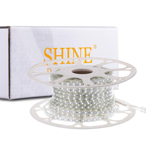 220V-240V 6x10mm 6500K Cool White LED Strip Light -82ft -