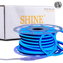 Load image into Gallery viewer, 120V 7x14.5mm Blue LED Neon Rope Light -50ft -