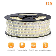Load image into Gallery viewer, 110V 7x13mm LED Strip Light 6500K Cool White -82ft -