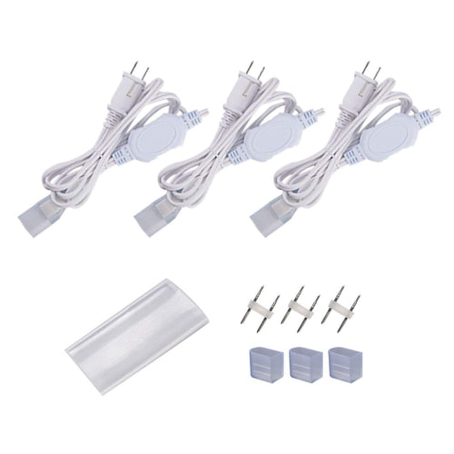 Power Cord Pack for 12.5x23mm LED Single Color Neon Light -