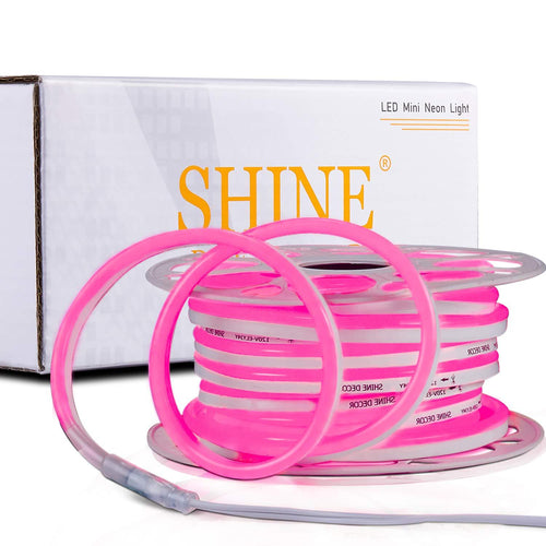 220V-240V 7x14.5mm Pink LED Neon Light -50ft -