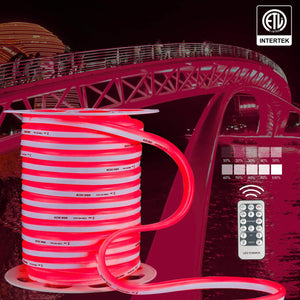 120V 12.5x23mm LED Neon Rope Light Red Color - 150ft -