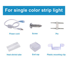 Load image into Gallery viewer, Accessories for 7x10mm Single Color LED Strip Light -