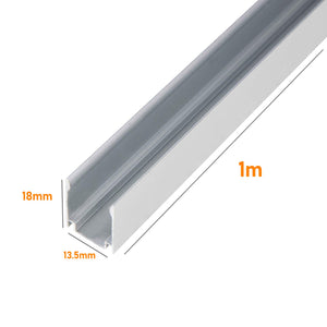 Aluminum Channel Track for 12.5x23mm LED Neon Light -