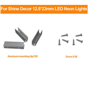 Mounting Clip, Screws for 12.5x23mm LED Neon Light -