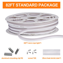 Load image into Gallery viewer, 120V 7x14.5mm LED Neon Rope Light 6500K Cool White -82ft -