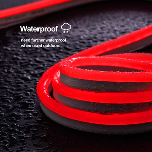110V 8x16mm Red LED Mini Neon Rope Light - 50ft -