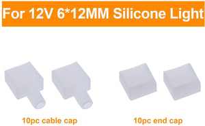 Cap Pack for 12V 6x12mm LED Silicone Rope Lights -