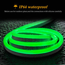 Load image into Gallery viewer, 110V 8x16mm Green LED Mini Neon Rope Light -16.4ft -