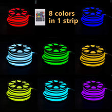 Load image into Gallery viewer, 110V 14x26mm LED RGB Neon Rope Light - 32.8ft -
