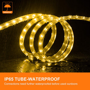 110V 7x13mm LED Strip Light 3000K Warm White -32.8ft -