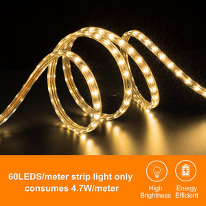 220V-240V 6x10mm 3000K Warm White LED Strip Light -16.4ft -