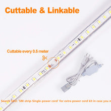 Load image into Gallery viewer, 120V 6x10mm LED Strip Rope Light 6500K Cool White -50ft -