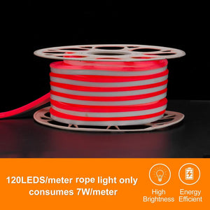 220V-240V 7x14.5mm Red LED Neon Light -50ft -