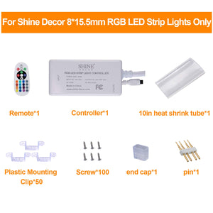 Power Supply Including IR Controller with Remote for 8x15.5mm LED RGB Strip Light Only -