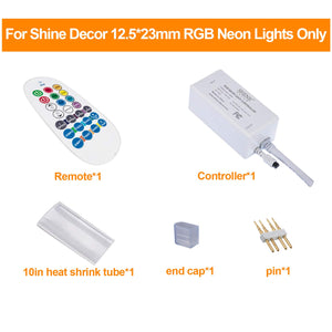 Power Supply for 12.5x23mm LED RGB Neon Light only -
