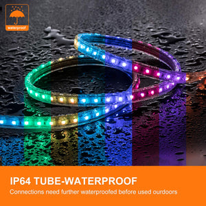110V 7x15mm Color Changing LED RGB Strip Light - 50ft -