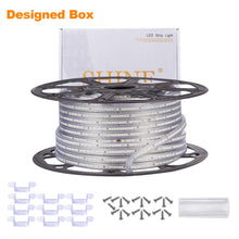 Load image into Gallery viewer, 120V 6x10mm LED Strip Rope Light 3000K Warm White -150ft -