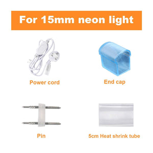 Power Cord for 220V-240V 12.5x23mm LED Neon Light only -