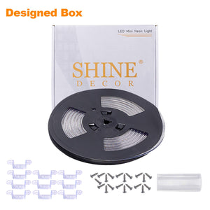 120V 6x10mm LED Strip Rope Light 4000K Neutral White -16.4ft -