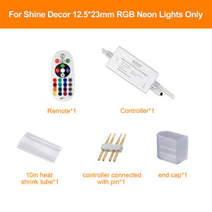 RF Controller  for 12.5x23mm 14colors LED RGB Neon Lights -