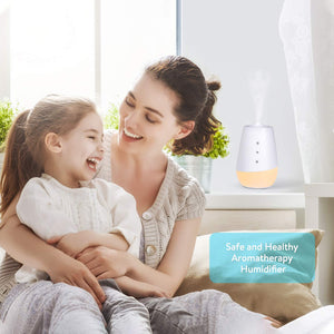 Oil Diffuser Quiet Cool Mist Humidifier 3000K LED Night Light -