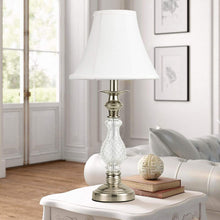 Load image into Gallery viewer,  Elegant White Table Lamps Floor Lamp 3-Pieces Lamp Set-Shine Decor