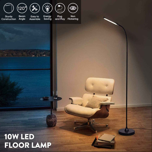 LED Floor Tall Lamps, Dimmable Reading Light Shine-Decor