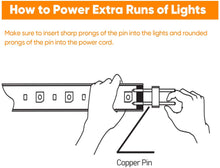 Load image into Gallery viewer, LED Power Cord for 7x13.5mm End to End LED Strip Light