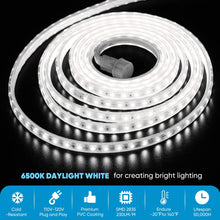 Load image into Gallery viewer, 110V 7x13.5mm End to End LED Strip Light 6500K Cool White -82ft