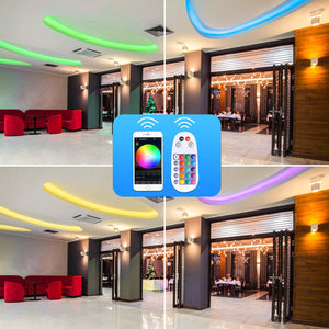 Bluetooth APP Smart Controller for 8x15.5mm LED RGB Strip Lights -