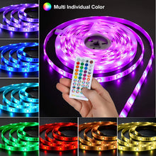 Load image into Gallery viewer, 12V Bluetooth RGB LED Strip Lights Kit-32.8ft -