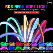 Load image into Gallery viewer, Shine Decor 16.4FT LED RGB Neon Rope Lights