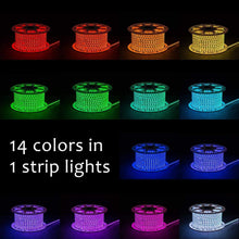 Load image into Gallery viewer, 110V 7x15mm Color Changing LED RGB Strip Light - 16.4ft -