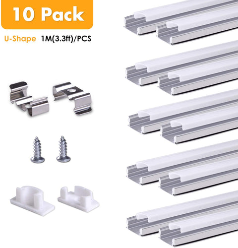 U-Shaped Aluminum Channel Track -