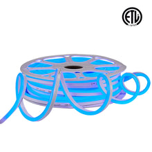 Load image into Gallery viewer, 120V 7x14.5mm Blue LED Neon Rope Light -82ft