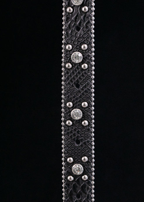 Snake Black Concho Belt Strap (2 variations)
