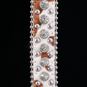 Luxe Pony Hair  - Brown & White  Belt Strap (3 variations)